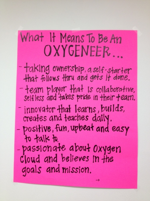 What it means to be an Oxygeneer